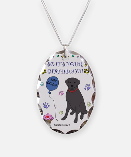 BlackLab Necklace Oval Charm
