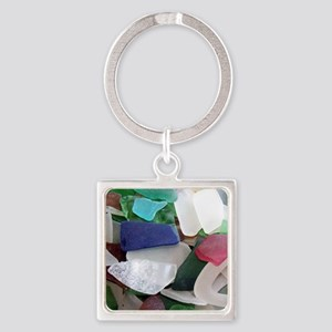 Emmas Ocean Glass Note Card Square Keychain