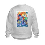 Surreal Seascape Watercolor Kids Sweatshirt