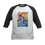 Surreal Seascape Watercolor Kids Baseball Jersey