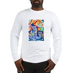 Surreal Seascape Watercolor Long Sleeve T-Shirt