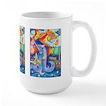 Surreal Seascape Watercolor Large Mug