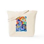 Surreal Seascape Watercolor Tote Bag