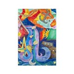 Surreal Seascape Watercolor Rectangle Magnet