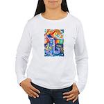 Surreal Seascape Watercolor Women's Long Sleeve T-
