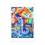 Surreal Seascape Watercolor Mini Poster Print