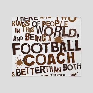 footballcoachbrown Throw Blanket
