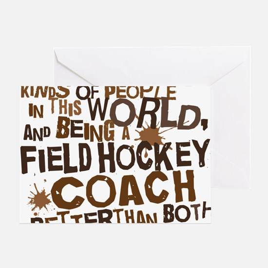fieldhockeycoachbrown Greeting Card