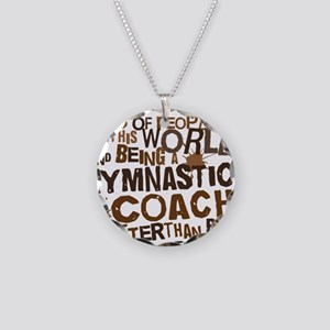 gymnasticscoachbrown Necklace Circle Charm