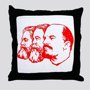 Marx, Engels & Lenin Throw Pillow