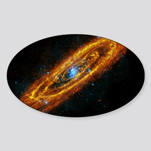 508574main_M31_XMM_HERSCHEL_full Sticker (Oval)