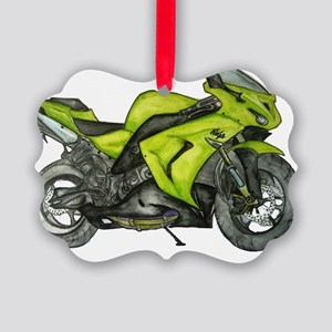 motorbike large Picture Ornament