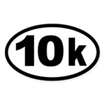 10k Race Oval Sticker