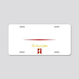 Savannah Script B Aluminum License Plate