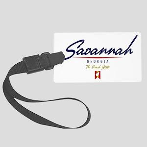 Savannah Script W Large Luggage Tag