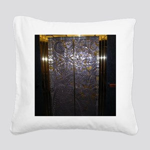 Floral Elevator Square Canvas Pillow