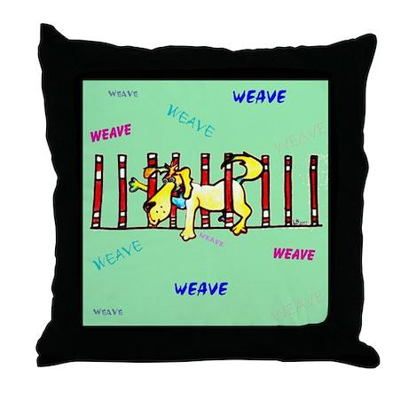 Weave Pole, Throw Pillow