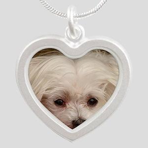 MalteseGCard Silver Heart Necklace