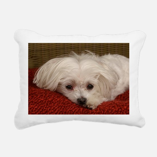 MalteseGCard Rectangular Canvas Pillow