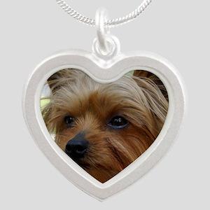 YorkieMousepad Silver Heart Necklace