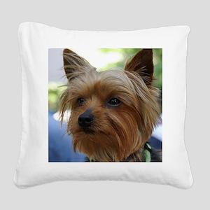 YorkieMousepad Square Canvas Pillow
