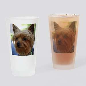 YorkieMousepad Drinking Glass
