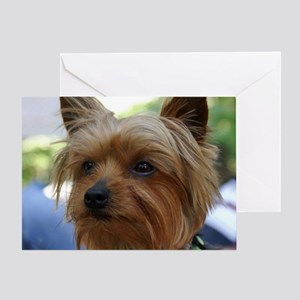 YorkieMousepad Greeting Card