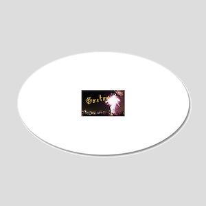 Boston_4.25x5.5_194_NoteCard 20x12 Oval Wall Decal