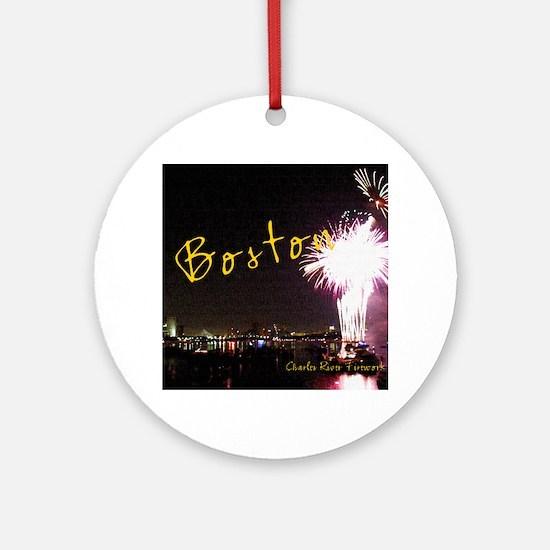Boston_4.25x5.5_194_NoteCards Round Ornament