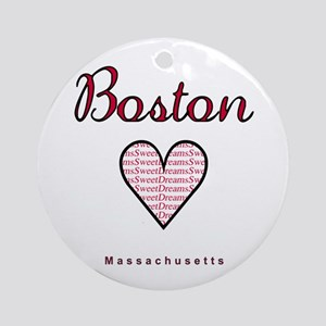 Boston_10x10_Massachusetts_SweetDre Round Ornament