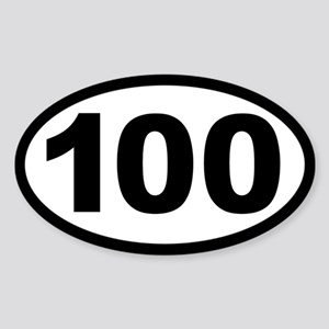 Ultra 100 Oval Sticker