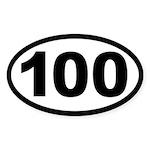 Ultra 100 Oval Sticker
