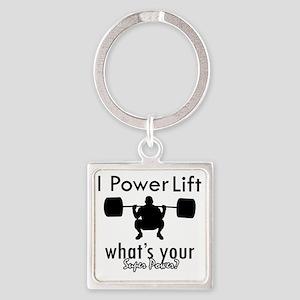 powerlift Square Keychain
