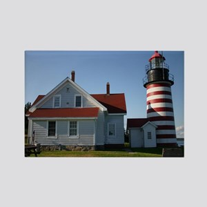 West Quoddy Note Card Rectangle Magnet
