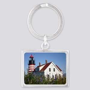 West Quoddy flowers Note Card Landscape Keychain