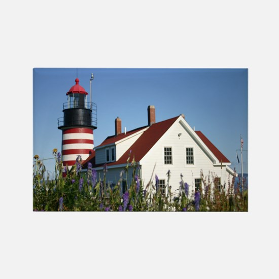 West Quoddy flowers Note Card Rectangle Magnet