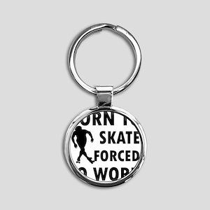 skate-roller Round Keychain