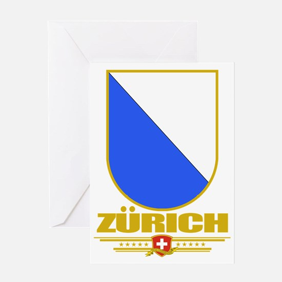 Zurich (Flag 10) Greeting Card