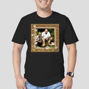 Personalizable Golden Flowers Frame Men's Fitted T