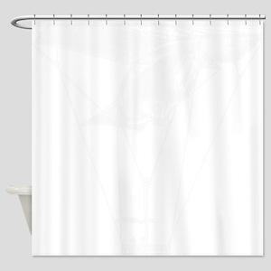 WhiteVintageAirballoon Shower Curtain
