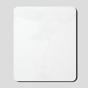 WhiteVintageAirballoon Mousepad