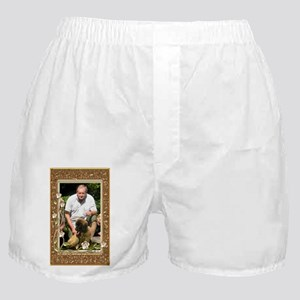 Personalizable Golden Flowers Frame Boxer Shorts