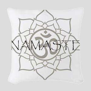 NamasteOm-1 Woven Throw Pillow