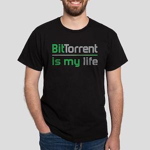BitTorrent Is My Life Dark T-Shirt