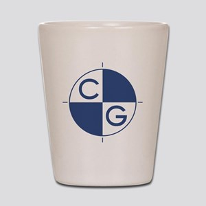 CG_blue_white Shot Glass