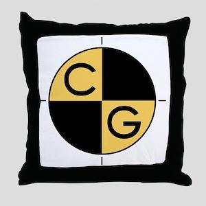 CG_yellow_black Throw Pillow