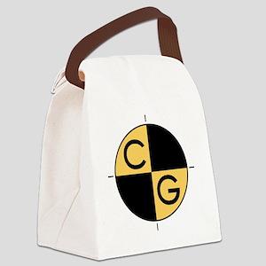 CG_yellow_black Canvas Lunch Bag