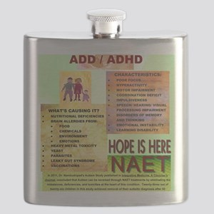 Small Autism Poster Flask