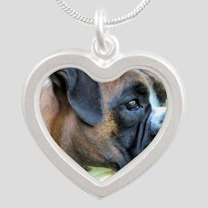 Jasmine 3A Silver Heart Necklace
