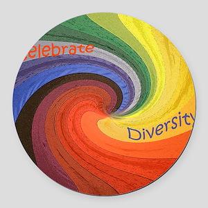Diversity square Round Car Magnet